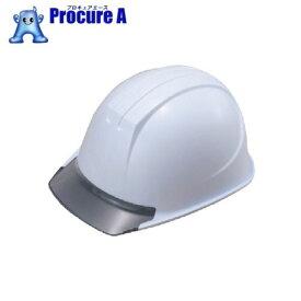 タニザワ エアライト搭載ヘルメット(PC製・透明ひさし型) 帽体色 ホワイト 161-JZV-V2-W3-J ▼493-5039 (株)谷沢製作所
