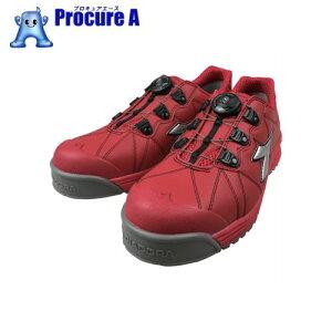 ディアドラ DIADORA安全作業靴 フィンチ 赤/銀/赤 25.0cm FC383-250 ▼855-2274 ドンケル(株)