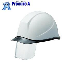 ミドリ安全 PC製ヘルメット スライダー面付 透明バイザー SC-11PCLSRA-KP-W/S ▼388-7901 ミドリ安全(株)