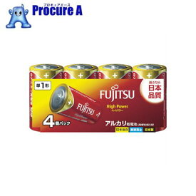 富士通 アルカリ単1 HighPower (4本入) LR20FH(4S) ▼754-5851 FDK(株)