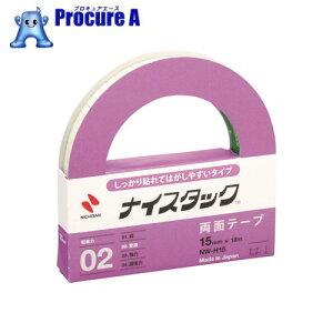 ニチバン 両面テープ ナイスタックしっかり貼れて剥がしやすいタイプNW−H15 15mmX18m NW-H15 ▼123-1494 ニチバン(株)