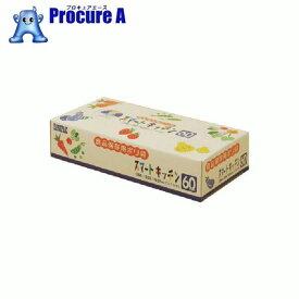 サニパック KS02スマートキッチン保存袋(箱入り)半透明60枚 KS02-HCL ▼496-5795 日本サニパック(株)