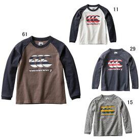 キッズ 長袖 Tシャツ カンタベリー CANTERBURY ロングスリーブ ティーシャツ ラグビー ウェア カジュアル 子供服 セール RAJ49752