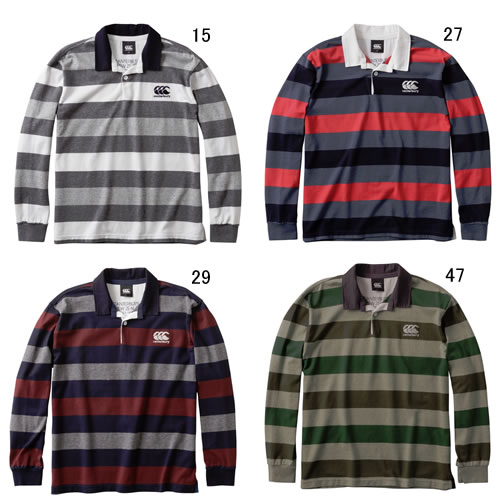 カンタベリー 【CANTERBURY】L/S ラガーシャツ 2017FW NEW セール RA47554
