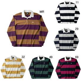 ラガーシャツ 長袖 襟付 メンズ カンタベリー canterbury 4インチ ストライプ ラグビージャージ 男性用 ラグビー ボーダー 綿 タウンユース / RA48561 セール