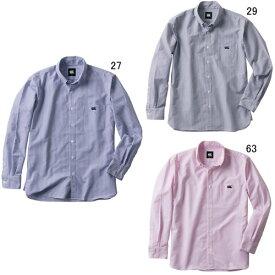 長袖 ワイシャツ メンズ カンタベリー CANTERBURY ロングスリーブ ストレッチ ストライプ ボタンダウンシャツ ラグビー 襟付 ウェア セール RA48610
