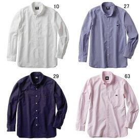 長袖 ワイシャツ メンズ カンタベリー CANTERBURY ロングスリーブ ストレッチ ボタンダウンシャツ ラグビー 襟付 ウェア セール RA48614