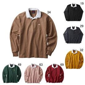 ラガーシャツ 長袖 襟付 メンズ カンタベリー canterbury ソリッド カラー ラグビージャージ 男女共用 ラグビー 無地 綿 タウンユース / RA40095 セール