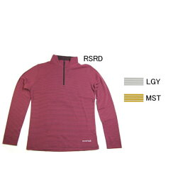 モンベル【mont-bell】Women's WIC・ボーダーロングスリーブジップシャツ #1104821