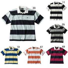 ラガーシャツ 半袖 襟付 メンズ カンタベリー canterbury 4インチ ストライプ ラグビージャージ 男性用 ラグビー ボーダー 綿 タウンユース / RA39064 セール