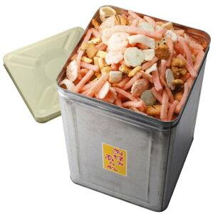 【お徳用】一斗缶入り お好みあられ400g×4袋 1.6kgホームパーティのおやつの一品にビールの肴に人気。