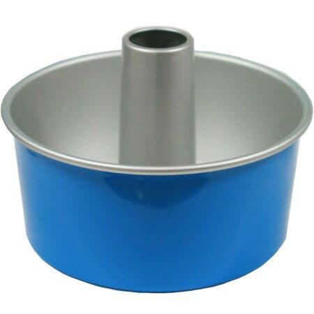 【MIYUコート(ブルー)】つなぎ目のないアルミシフォンケーキ型 17cm