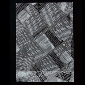【パン袋】ヨーロピアンPP 底マチ袋(白黒) 100枚 8939