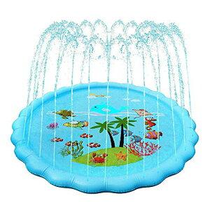 噴水マット 噴水プール 噴水 おもちゃ プレイマット 直径170cm 噴水池 水遊び ウォーター ビニールプール 子ども用 プール用品 夏の日 芝生遊び 家庭用 子供用 親子芝生遊び プールマット 誕