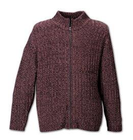 【3L・4L・5L・6L】COLLINS モールスタンド衿フルジップセーター【大きいサイズ】【あす楽】【キングサイズ】【ビッグサイズ】【COLLINS ・コリンズ・前ジップ・モール】