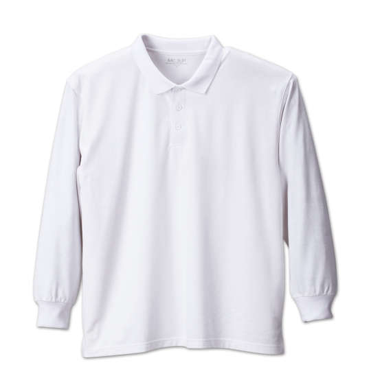 【 大きいサイズ 】長袖ポロシャツ Mc.S.P (ホワイト)【 3L 4L 5L 6L 8L 】【 キング 】【 ビッグ 】【 ラージ 】【 あす楽 】