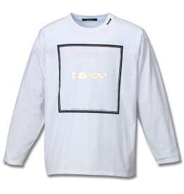 【 大きいサイズ 】箔プリント長袖Tシャツ SEVEN2 (ホワイト)【 3L 4L 5L 6L 】【 キング 】【 ビッグ 】【 ラージ 】【 あす楽 】