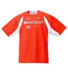 ブリーズプラス 半袖 Tシャツ DESCENTE ( オレンジ ) 【 3L 4L 5L 6L 】【 大きいサイズ 】【 キング 】【 ビッグ 】【 ラージ 】【 あす楽 】