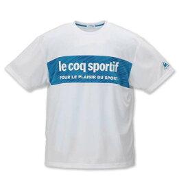 【 大きいサイズ 】ドライジャカードニット半袖Tシャツ LE COQ SPORTIF (ホワイト)【 2L 3L 4L 5L 6L 】【 キング 】【 ビッグ 】【 ラージ 】【 あす楽 】