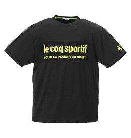 【 大きいサイズ 】ドライジャカードニット半袖Tシャツ LE COQ SPORTIF (ブラック)【 2L 3L 4L 5L 6L 】【 キング 】【 ビッグ 】【 ラージ 】【 あす楽 】