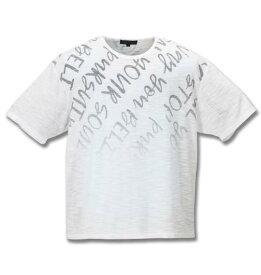 【 大きいサイズ 】スラブネップロゴグラデーション半袖Tシャツ in the attic (ホワイト系)【 3L 4L 5L 6L 】【 キング 】【 ビッグ 】【 ラージ 】