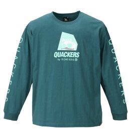 【 大きいサイズ 】DUCK DUDEロゴプリント長袖Tシャツ b-one-soul (エメラルドグリーン)【 3L 4L 5L 6L 】【 キング 】【 ビッグ 】【 ラージ 】
