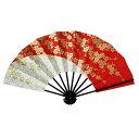 舞扇子 日本製 (1450) アウトレット 黒塗り 金 赤 桜 舞踊 扇子 舞扇 踊り 日舞 せんす よさこい 扇 【お取り寄せ商…