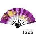 舞扇子 日本製 (1528) アウトレット 黒塗り 色紙ちらし 紫 舞踊 扇子 舞扇 踊り 日舞 せんす よさこい 扇 【お取り…