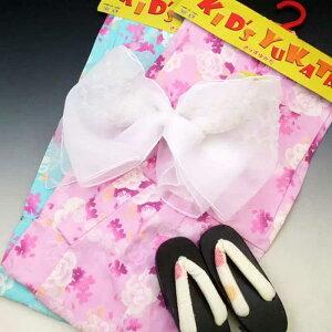お子様 ゆかた 福袋 バラ 110 女の子用 子供用 浴衣 花柄 紫 水 110cm 薔薇