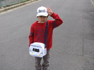 Shinkansen N700 Series Hat & bag kids odekake set train and Shinkansen bullet train toy! To the children PLA-like 10P23Sep15