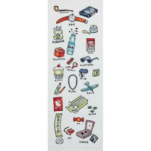 【手ぬぐい 駄菓子屋の夢】夜店 夏祭り 昭和レトロ かわいい 注染手拭い 日本製 アート蒼