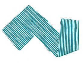 女物 ポリエステル hiromichi nakano 仕立上り 盛夏・単衣小紋着物 M・Lサイズ -縞・桜/青緑系地- [ 1707-2446 ]【きもの・洗える・すぐ着られる・既製品・街着・お稽古・しま・ストライプ・女性・レディース・サクラ・さくら・ナカノヒロミチ・白・生成り】