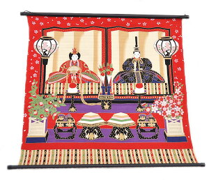 ポール付き 二巾風呂敷 -桃の節句/雛人形- [ 0605-114 ] ふろしき かざり もものせっく 三月 女の子 子供 こども 季節物 レーヨン ギフト プレゼント 贈り物 お土産 外国 ひなにんぎょう 段