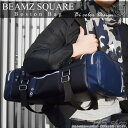 【送料無料】beamz square ボストンバッグ メンズ【BEAMZ SQUARE】 スクエアスタイル 牛革 ボストンバッグ小旅行 ゴル…