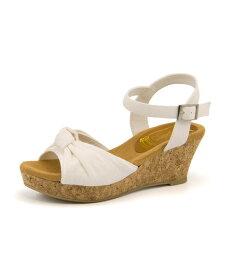 Padourouge(パドリュージュ) レディース 結びリボンウェッジサンダル 111830 ホワイト|レディース サンダル 靴 カジュアル 夏 女性 レディースサンダル サンダルシューズ 夏サンダル 税別2000円ポッキリ アウトレット セール
