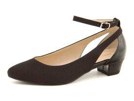 Jelly Beans(ジェリービーンズ) レディース ストラップパンプス 112-06622 ブラック   靴 シューズ くつ パンプス カジュアル カジュアルパンプス レディースシューズ ストラップ カジュアルシューズ ストラップ付き 黒パンプス レディースパンプス 女性 黒 レディース靴