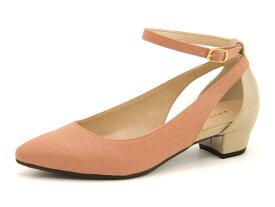 Jelly Beans(ジェリービーンズ) レディース ストラップパンプス 112-06622 ピンク   靴 シューズ くつ パンプス カジュアル カジュアルパンプス レディースシューズ ストラップ カジュアルシューズ ストラップ付き レディースパンプス 女性 レディース靴 カジュアル靴
