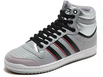adidas(阿迪达斯)TOP TEN HI(前十名HI)G12136铝/黑色/白粉笔