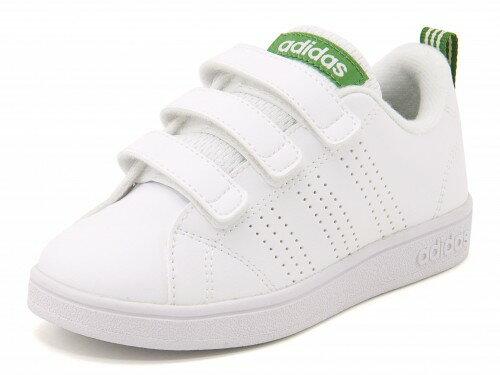 adidas(アディダス) VALCLEAN 2 CMF K(バルクリーン2CMFK) AW4880 ランニングホワイト/ランニングホワイト/グリーン