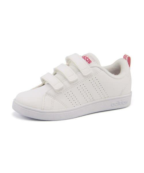 adidas(アディダス) VALCLEAN 2 CMF K(バルクリーン2CMFK) BB9978 ランニングホワイト/ランニングホワイト/スーパーピンク | シューズ スニーカー キッズ 女の子 子供 こども 靴 子供靴 キッズスニーカー ジュニア ジュニアスニーカー 子供用靴 子ども 子どもスニーカー 女児
