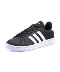 adidas(アディダス) GRANDCOURT LEA U(グランドコートレザーU) F36393 コアブラック/ランニングホワイト/ランニングホワイト【レディース】