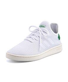 adidas(アディダス) COURTADAPT 2.0 U レディーススニーカー(コートアダプト2.0U) F36417 ランニングホワイト/ランニングホワイト/グリーン【レディース】
