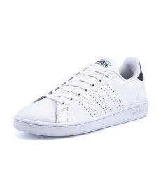 adidas(アディダス) ADVANCOURT LEA U メンズスニーカー(アドバンコートレザーU) F36423 ランニングホワイト/ランニングホワイト/ダークブルー