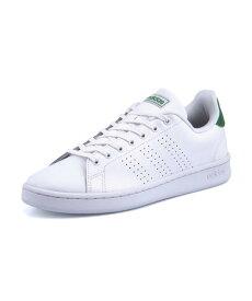 adidas(アディダス) ADVANCOURT LEA U メンズスニーカー(アドバンコートレザーU) F36424 ランニングホワイト/ランニングホワイト/グリーン