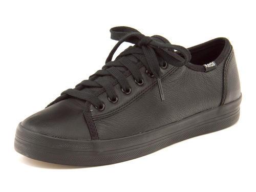 Keds(ケッズ) KICKSTART LEATHER(キックスタートレザー) 637553 ブラック | 靴 シューズ スニーカー レディース レディースシューズ ローカット ローカットスニーカー レディーススニーカー 女性 レディス ブランド レディススニーカー レディース靴 くつ 女性スニーカー