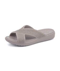 crocs(クロックス) SLOANE EMBELISHED XSTRAP(スローンエンベリッシュドエックスストラップ) 204084 018 プラチナム