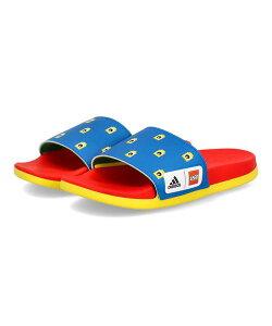 adidas アディダス ADILETTE CF K キッズサンダル【LEGOコラボ】(アディレッタCFK) FZ2866 ショックブルー/レッド/イエロー