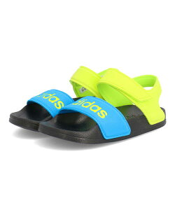 adidas アディダス ADILETTE SANDAL K キッズスポーツサンダル【超軽量】(アディレッタサンダルK) FY8850 コアブラック/ソーラーイエロー/ソラーブルー