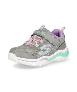 SKECHERS スケッチャーズ S LIGHTS-POWER PETALS ベビースニーカー 光る靴 Sライツパワーペタルズ 20202N GYMT グレー マルチ キッズ シューズ 靴 スニーカー ベビー ブランド ギフト プレゼント ラッピン