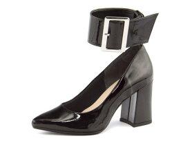 Feminine Cafe(フェミニンカフェ) レディース ネックベルトパンプス 1820 ブラック   靴 シューズ くつ パンプス カジュアル カジュアルパンプス レディースシューズ カジュアルシューズ ベルト 黒パンプス レディースパンプス 女性 黒 レディース靴 カジュアル靴